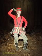 Caver Striking a Pose (wrcochran) Tags: nature vertical skyline underground alabama caves caving cavern sinkhole speleo spelunking jacksoncounty nss