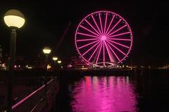 Seattle wheel (jeff's pixels) Tags: seattle wheel light night long exposure ferris reflection washington water front