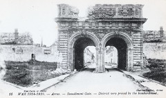 Arras - Beaudimont Gate (pepandtim) Tags: postcard old early nostalgia nostalgic 79bea42 arras 1914 1916 beaudimont gate charles ledieu destruction bombardment