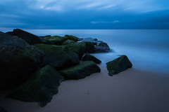 Limitless (SimonTHGolfer) Tags: rocks water landscape landscapephotography bluehour dawn longexposure sea ocean coast beach beautiful sand waves sky clouds suffolk southwold defences nikon bigstopper simontalbothurnphotography eastanglia