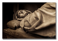 Tomb, catedrale di Santa Maria (Descended from Ding the Devil) Tags: chianti dof italy montepulciano sonya7mkii sonyalphadslr tuscany beyondbokeh bokeh catedrale cathedral depthoffield figure fullframe mirrorless photoborder selectivefocus statue tomb