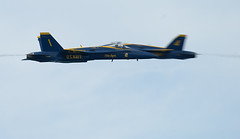 High speed pass (DrSeaMonkey) Tags: f18 fa18 blue angels blueangels pass 1000 1 000 mph 000mph 1000mph blur fast jet edge cockpit view helmet formation fly flying two high speed oppose opposing gary indiana air show airshow 2016 beach aerobatic airplane plane united states us navy