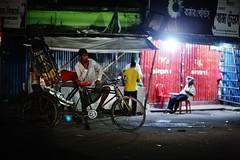 How cool is that ! (N A Y E E M) Tags: rickshaw rickshawwalla smoke cigarette latenight lastnight street roundabout kazirdewri chittagong bangladesh carwindow candid