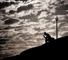 Over my Head (fehlfarben_bine) Tags: nikondf 7001200mmf40 photowalkwithcarl thankyou fac clouds monochrome silhouettes chicagoillinois lakefronttrail lakemichigan museumcampus adlerplanetarium