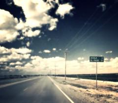 Road to ElPaso 1 (podolux) Tags: texas tx westtexas road highway sign roadsign roadtrip nikon coolpix nikoncoolpix8300 postprocessing aviary picmonkey