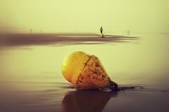 Joggen im Sonnenaufgang... (hobbit68) Tags: beach sky himmel clouds ozean sommer wolken andalucia kste outdoor misty sonne strand canon wasser sonnenaufgang sonnenschein sunset playa espana spanien urlaub nebel ufer meer