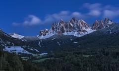 *Dolomites @ Blue Hour* (albert.wirtz) Tags: albertwirtz nikon d700 nikkor2470f28 dolomiten dolomiti dolomites villnstal sanktmargareten geisslergruppe neuschnee schnee bluehour blauestunde langzeitbelichtung longtermshot sdtirol altoadige southtirol geisslergroup italien italy italia villnoess snow freshsnow