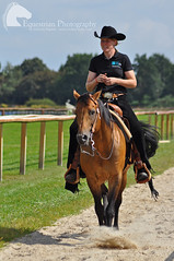 Western riding (Vicktrr) Tags: majestic horses bremen germany galopprennbahn race course bremer pferdetage horse friesian andalusian andalucian pre stallion spanish equine equestrian barrel racing cowboy indians paint lunging vaulting pinto