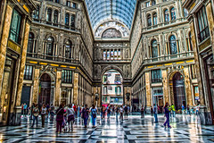 Galleria Umberto HDR (massimilianodelnoce) Tags: people italy colors nikon napoli architettura hdr galleriaumberto d3200