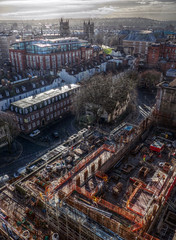 Building Site (Andrew Gustar) Tags: rooftop bristol construction cathedral hdr 115picturesin2015
