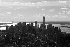 Skyline (Leo de Graaf) Tags: nyc ny newyork streets skyline buildings empirestatebuilding wtc vs statueofliberty amerika freedomtower