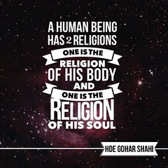Quote of the Day: A Human Being Has Two Religions... (Mehdi/Messiah Foundation International) Tags: nature square religious body religion perspective human squareformat soul spirituality sufism humanbeing humannature foodforthought dailyinspiration higherconsciousness inspiringquotes iphoneography goharshahi riazahmedgoharshahi instagramapp uploaded:by=instagram