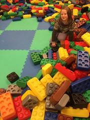 Anna & klossene -|- Among giant blocks (erlingsi) Tags: erlingsi iphone blocks legos giant farger colors clours farben farver førde explored explored101214 oc erlingsivertsen sunnfjord camphone kameramobil flickr