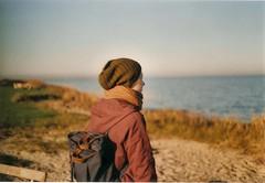 Ringkbing Fjord (battel) Tags: autumn holiday film beach analog 35mm denmark urlaub herbst olympus om10 silence dnemark nordsee holmslandklit borkhavn ringkobingfjord strandruhe