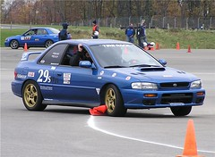 Cone Smashers part 1 (R.A. Killmer) Tags: auto car race cone slide racing autocross scca