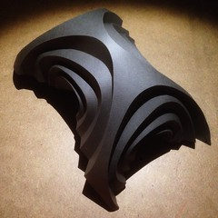 image1[5] (mike.tanis) Tags: sculpture abstract art architecture paper paperart design origami moonbase folding maquette papersculpture curvedfolding curvedcrease