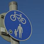 Caerleon cycle path sign
