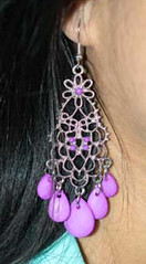 Glimpse of Malibu Purple Earrings K2 P5420-4