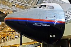 Cockpit of 737-222 N9065U (Ian E. Abbott) Tags: boeing 500views 737 unitedairlines hijacking boeing737 hilleraviationmuseum 737200 boeing737200 737222 boeing737222 n9065u flight796hijacking flight796