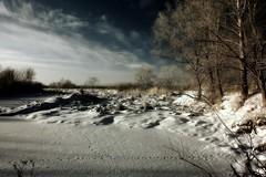 tropes (MarcelXYZ) Tags: trees winter snow landscape ir scenery infrared nokon tropes drohiczyn cesarz marcelxyz