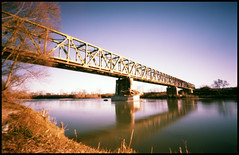 Bridge project (2015 - velvia xpro) (Roberto Messina photography) Tags: italy color film nature analog xpro crossprocessed january pinhole analogue zeroimage asti zero69 2015 fujivelvia100f