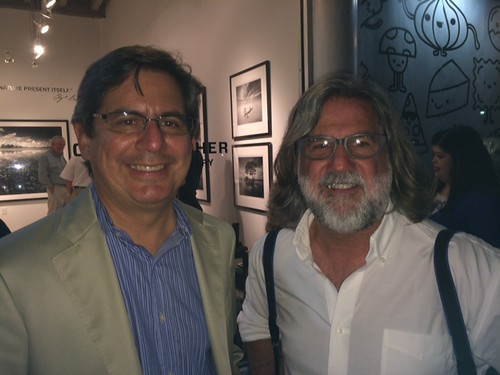 Miami Herald columnist Andres Viglucci with photographer Patrick Farrell at the opening of Clyde Butcher's new gallery in Coconut Grove