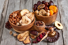 Mix of dried fruits (Speleolog) Tags: wood food brown holiday macro closeup fruit dessert israel wooden healthy mixed mix pears natural fig sweet background board group almond tasty dry bowl fresh gourmet delicious cranberry exotic health pile snack vegetarian apricot apples organic dried judaism nut diet dates assortment raisin nutrition carob prunes ingredient tubishvat judaic newyearoftrees