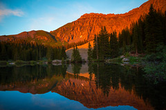 Sunlight (Zach Dischner) Tags: sunset summer lake reflection nature natural july roadtrip telluride mountainbiking crestedbutte fruita 2014 summery