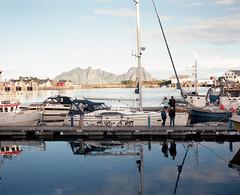 Svolvr, Lofoten, Norway, August 2014 (sergiofigliolia.it) Tags: sea mountains film norway mediumformat boat harbour sail 6x7 lofoten svolvr