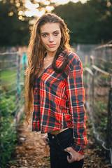 Garden Shot (xeaclare) Tags: autumn fall fashion garden model photoshoot modeling jeans flannel firsttime prophotographer