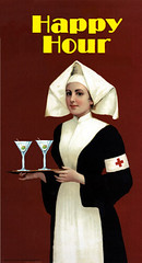 Happy Hour, after an 1897 Einmen Cocoa advertisement (Mike Licht, NotionsCapital.com) Tags: humor alcohol cocktails martinis advertisements nurses happyhour drinknig adultbeverages