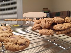 Ma Tanner's Cowboy Cookies. (peterlmorris) Tags: yummy cowboy cookie oatmeal delicious chocolatechip