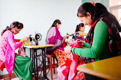 Nepal: 170 girls trained in trafficking avoidance; 3 girls rescued from trafficking (Peace Gospel) Tags: girls friends woman girl smile smiling sisters happy women friend friendship handmade sister sewing crafts joy smiles craft happiness sew empowered joyful sisterhood empowerment