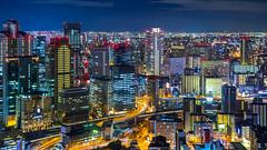 夜大阪 | Osaka at Night (TommyYeung) Tags: japan osaka night nightscenes cityscape 梅田藍天大廈 大阪 osakaprefecture 夜色 夜景 日本 城市 city travel vacation