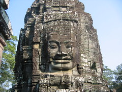 Faces of Bodhisattva Avalokiteshvara at Bayon Temple
