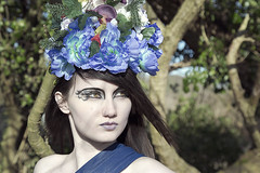 145A6094.v2 (KristinaLilith) Tags: flowers dark goddess makeup crown blackswan