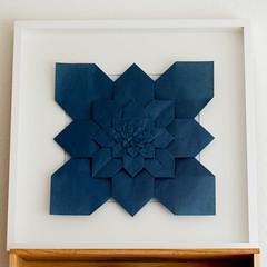Hydrangea - framed (.corsini) Tags: square origami fractal hydrangea fujimoto shuzofujimoto singlesheetorigami