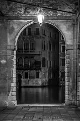 Venice 2015 ex LR Mar-1-6 near Rialto Bridge (Mike Filippoff) Tags: old carnival venice reflection water architecture night lights canal costume ancient scenery mask carnivale worn gondola lantern narrow extravagant