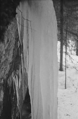 Frozen Wall (a.bannikov) Tags: travel bw nature landscape delta 3200 karelia ilford