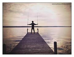 morning fishing (Dave (www.thePhotonWhisperer.com)) Tags: fishing dock saskatchewan mornign emmalake hipstamatic