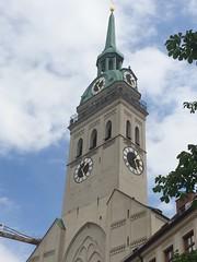 Munich (jelizholt) Tags: munich germany bier biergarten ein mass beer pretzels treasury bavaria marienplatz english gardens gothic neues rathaus glockenspiel st peters church frauenkirche