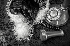Off the Hook ... (Imagemakercan - The Lensdancer) Tags: santa christmas red phone magic santaclaus whimsical offthehook ©joygerow