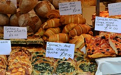 An Assortment of Savories (pjpink) Tags: portobello market portobellomarket food nottinghill london england britain uk may 2016 spring pjpink