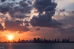 Leaving Miami (silberne.surfer) Tags: sunsetskylinemiami xt1 skylinemiami xf55200mmf3548 skyscrapers sunset sonnenuntergang fuji sonnenunterganginmiami wolkenkratzer skyline florida carnevalcruise fujixt1 miami cruisingtonassau