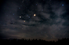 Mars (alitay) Tags: astrophotography clouds mars mtbaldywilderness nightsky stars trees winncampground apachestigreaves