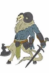 Frost Mane Giant (nathannethis) Tags: giant drawing rpg sword warrior chimera godofwar bloodborne ymir deadra norsemythology frostgiant waraxe icegiant jrpg darksouls hircine iceelemental skyrim belias demonsouls giantdemon blueexorcist swordartonline elementalgiant caprademon gleameyes beliasthegigas frostelemental
