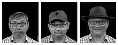 Mein Hut (AxelN) Tags: portrait blackandwhite bw man hat person sad portrt glad hut sw mann glcklich traurig schwarzweis