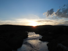 Sunset over the Hams Fork (jimmywayne) Tags: kemmerer wyoming lincolncounty sunset hamsfork river