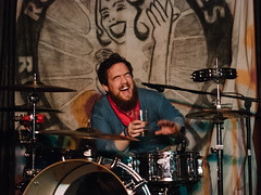Andrew (BurlapZack) Tags: olympusomdem5markii olympusmzuiko45mmf18 vscofilm pack01 dentontx rubbergloves rubberglovesrehearsalstudio rgrs babar babarseriesfinale band drummer localmusic venue bar dive diy laugh laughing beer musicscene rip farewellshow wrongsideofthetracks percussion kneeslapper