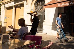 #10 Barcelona (Richard Stern) Tags: barcelona food tourism breakfast cafe spain streetphotography explore tables 40mm waiter richardstern